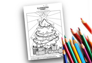 Tree Feature Image Colouring page Illumination Street colouring