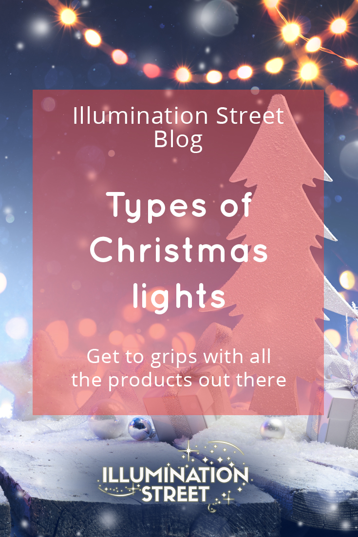 Types of Christmas lights Pin and social card artwork 2