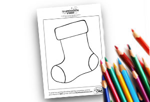 Blank Stocking Feature Image Colouring page Illumination Street colouring