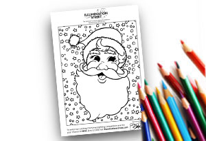 Christmas Feature Image Colouring page Illumination Street colouring