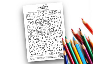 Merry Christmas Feature Image Colouring page Illumination Street colouring