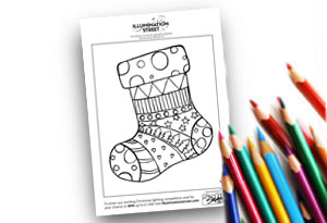 Pattern Stocking Feature Image Colouring page Illumination Street colouring