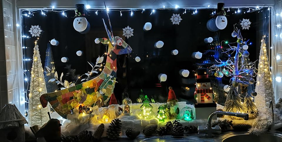 1st Children's Window Display - Winter Deer Park - Stevenage